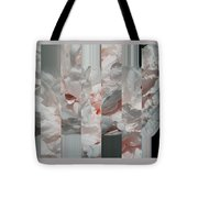 Ebony And Ivory Rose Peony - Floral Abstract Tote Bag