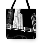 Ebony N Ivory Tote Bag