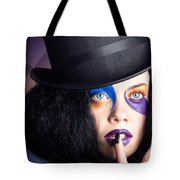 Eccentric Mad Fashion Hatter In Colourful Makeup Tote Bag