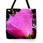 Ecclesiastes 3 A Time For Everything Tote Bag