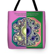 Ecclesiastes 3 A Time To Be Born And A Time To Die Fractal Tote Bag