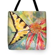 Echinacea Butterfly Tote Bag