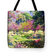 Echoes From Heaven, Spring Orchard Blossom And Pheasant Tote Bag