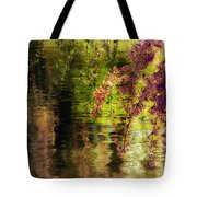 Echoes Of Monet - Cherry Blossoms Over A Pond - Brooklyn Botanic Garden Tote Bag by Vivienne Gucwa