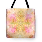 Eco Print Rose Mandala Tote Bag