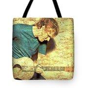 Ed Sheeran And Guitar Tote Bag