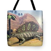 Edaphosaurus Dinosaur - 3d Render Tote Bag