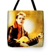 Eddie Cochran, Music Legend By John Springfield Tote Bag
