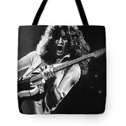 Eddie Van Halen - Black And White Tote Bag