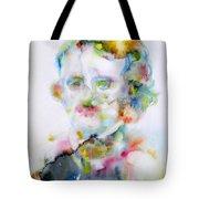 Edgar Allan Poe - Watercolor Portrait.4 Tote Bag