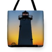 Edgartown Harbor Light Sunrise IIi Tote Bag