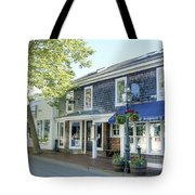 Edgartown Street Tote Bag by David Birchall