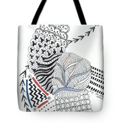 Edged In Blue Tote Bag