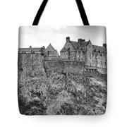 Edinburgh Castle Bw Tote Bag