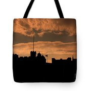 Edinburgh Castle Silhouette  Tote Bag