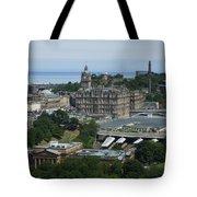 Edinburgh Castle View #3 Tote Bag
