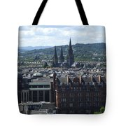 Edinburgh Castle View #8 Tote Bag