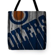 Edmonton Oilers Wood Fence Tote Bag
