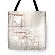 Edmonton Street Map Colorful Copper Modern Minimalist Tote Bag