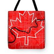 Edmonton Street Map - Edmonton Canada Road Map Art On Canada Flag Symbols Tote Bag