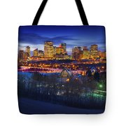 Edmonton Winter Skyline Tote Bag