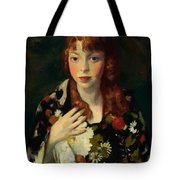 Edna Smith In A Japanese Wrap 1915 Tote Bag