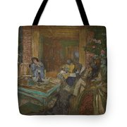 Edouard Vuillard  Sewing Party At Loctudy Tote Bag