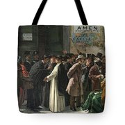 Eduardo Matania, Shuttered Bank Tote Bag