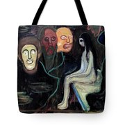 Edvard Munch - Girl And Three Mens Heads 1895-98 Tote Bag