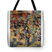 Edward Atkinson Hornel 1864 - 1933 Carnival Day, Japan Tote Bag