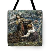 Edward Atkinson Hornel 1864 - 1933 The Butterfly Catchers Tote Bag