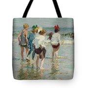 Edward Henry Potthast 1857 - 1927 Summer Day, Brighton Beach Tote Bag
