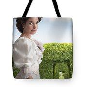 Edwardian Woman In A Summer Garden  Tote Bag
