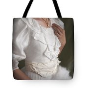 Edwardian Woman Mid Section  Tote Bag