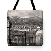 Eerie Cemetery Tote Bag by James BO  Insogna