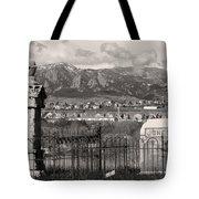 Eerie Cemetery Tote Bag