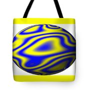 Egg In Space Blue And Yellow Tote Bag