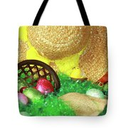 Eggs And A Bonnet For Easter Tote Bag