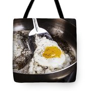 Eggs Cooked With Bacon Grease In Pan  Tote Bag