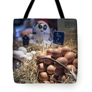 Eggsactly What You Are Looking For - La Bouqueria - Barcelona Spain Tote Bag