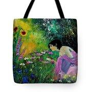 Eglantine With Flowers Tote Bag