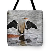Egret And Cormorant Wings Tote Bag
