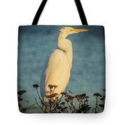 Egret At Dusk Tote Bag