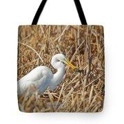 Egret Breakfast Tote Bag