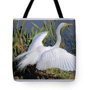 Egret Display Tote Bag