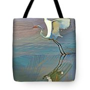Egret Getting Ready For Take Off Tote Bag