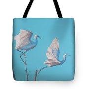 Egret Glide Tote Bag