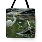 Egret In The Swamp Tote Bag