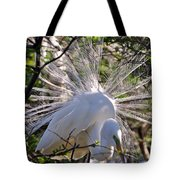 Egret In The Thicket Tote Bag