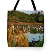 Egret Lake Tote Bag